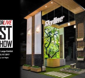 Skyline EXHIBITORLIVE Large trade show booth,