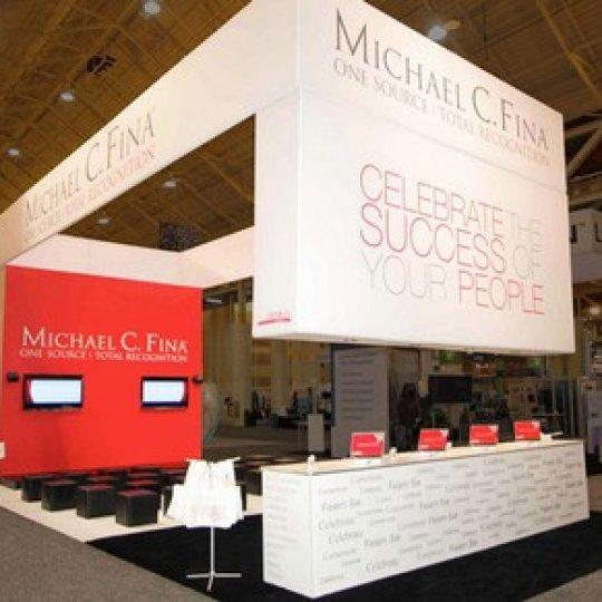 design et image de marque, kiosque d'exposition, marketing, Skyline Entourage