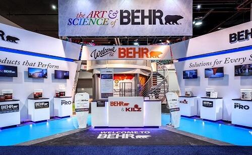 kiosque d'exposition _Behr