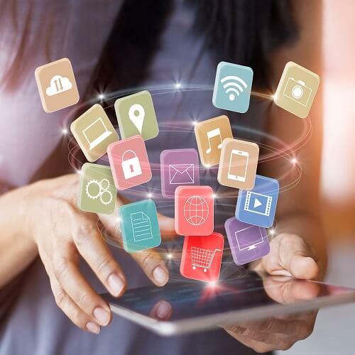 social media, technology, trade shows