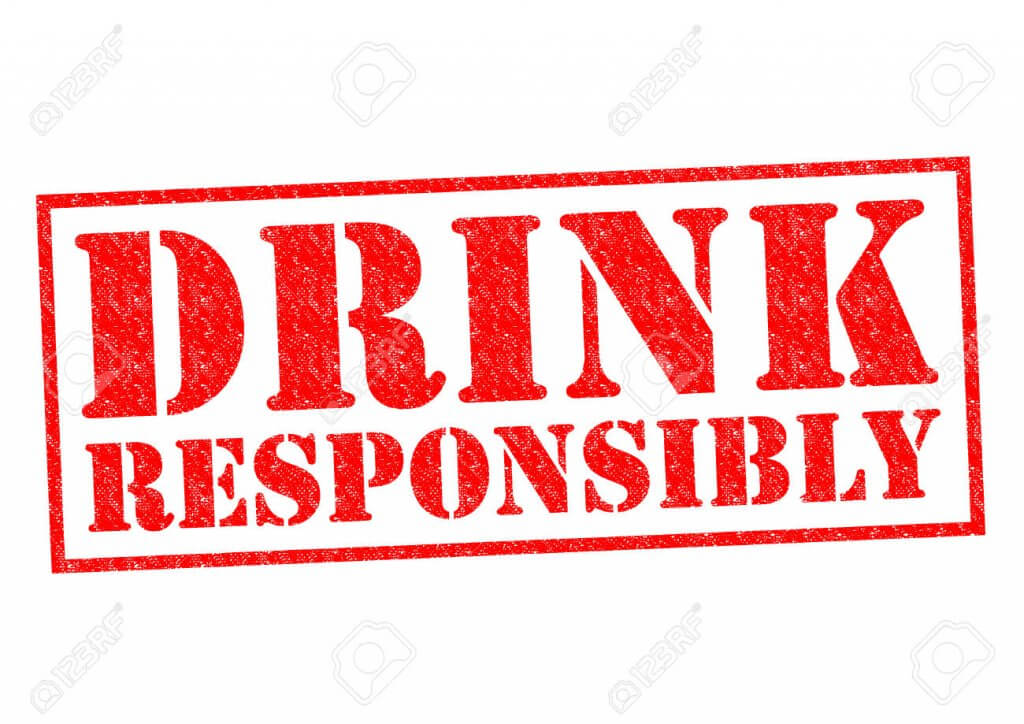 Drink responsibly stamp graphic, trade show solutions, Skyline Entourage