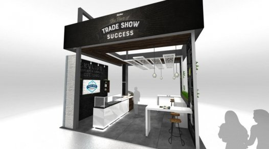design de kiosque d'exposition, salon d'exposition, Tendances, Skyline Entourage