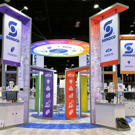 kiosque d'exposition, marketing et promotions, tendances et conseils, Skyline Entourage