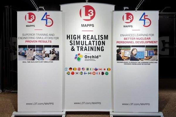 L3 Technologies, Banner Stands, Myriad, Skyline Entourage
