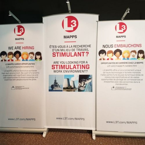 L3 Techonologies, Banner Stands, Myriad