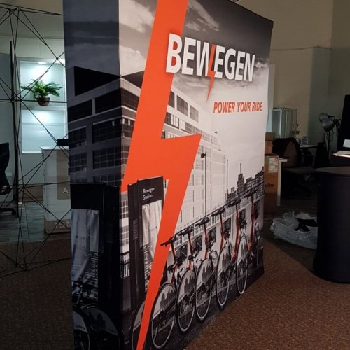Bewegen Technologies, 10×10, Portable Stands, Fabric Pop-Up, 2018 (2)