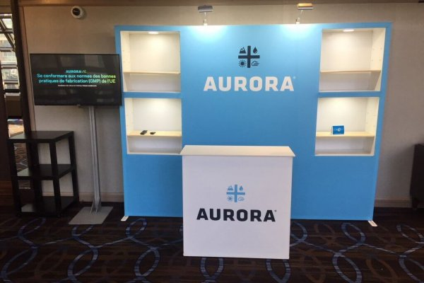Aurora Cannabis, 10x10, Portable Stands, TradeWinds Immerse, 2018