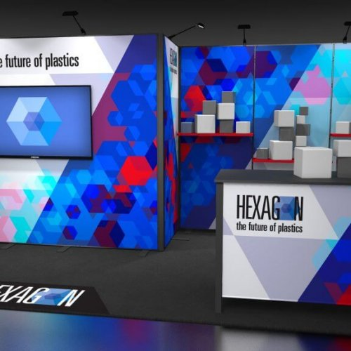 Skyline TradeWinds Amplify Hexagon 20' Inline Exhibit