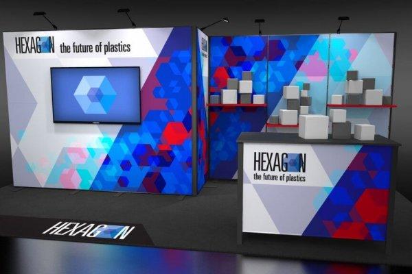 Skyline TradeWinds Amplify Hexagon 20' Inline Exhibit