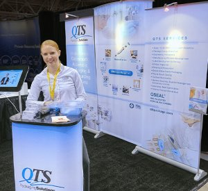 10x10 booth, exhibits, trade show booth, QTS, Skyline Entourage