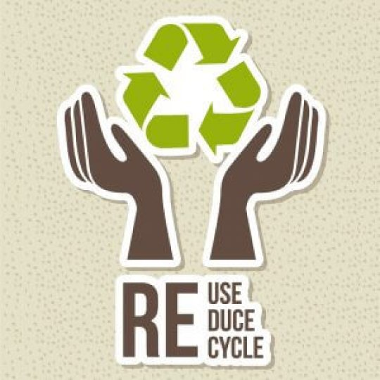 Reduce Reuse Recycle graphic, trade show solutions, Skyline Entourage