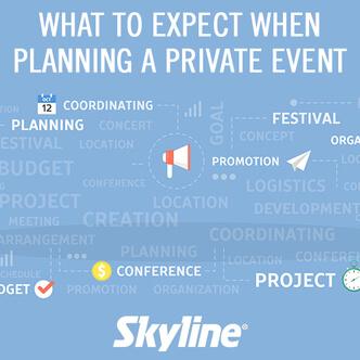 private event, planning, webinar, skyline entourage