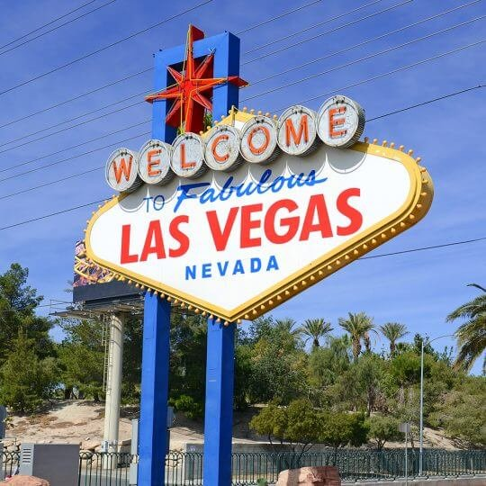 Welcome to Las Vegas sign, trade show solutions, Skyline Entourage