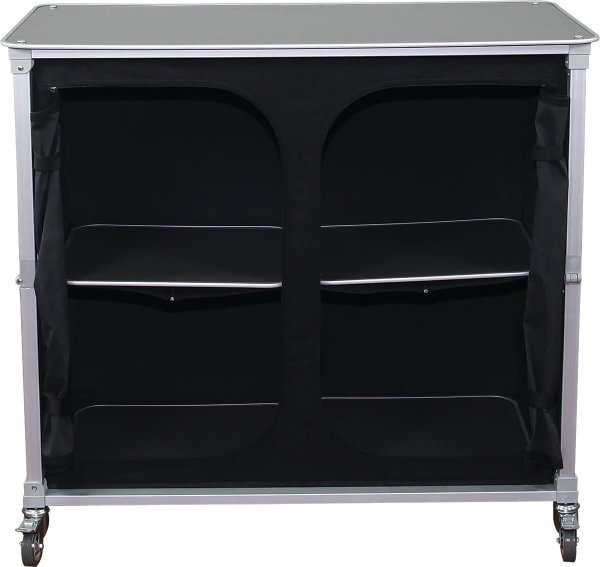 unzipped inside view of a portable bar counter, covid-19 business solutions, Skyline Entourage