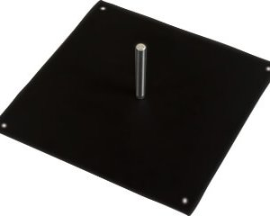Black square base for flag or banner, covid-19 business solutions, Skyline Entourage
