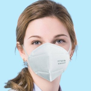 Woman wearing face mask, Masque KN95, CORONAVIRUS, COVID19, SAFE, PPE, SKYLINE ENTOURAGE