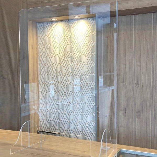 panneau de protection acrylique, acrylic protection panel, office safety, safe, covid-19, coronavirus, skyline entourage