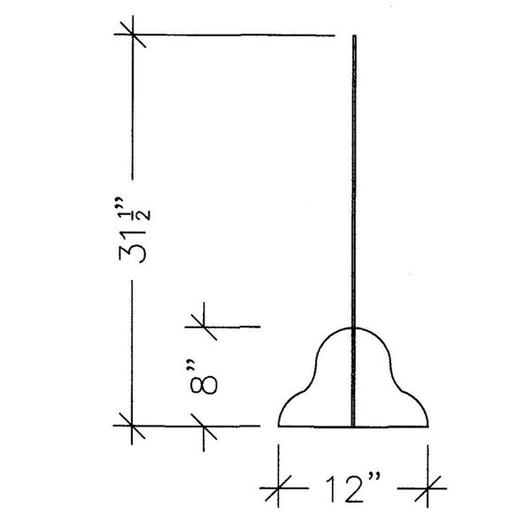 line drawing side view illustration of an acrylic protection panel with measurements, covid-19 business solutions, Skyline Entourage