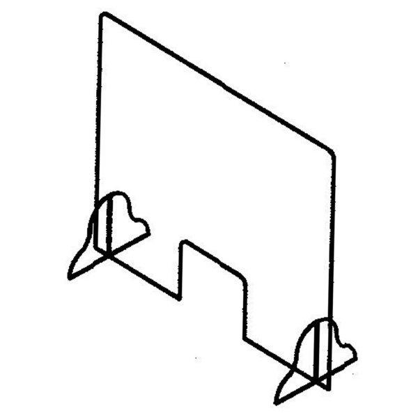 "line drawing of a 36"" acrylic protection panel, office safety, covid-19, coronavirus, skyline entourage"