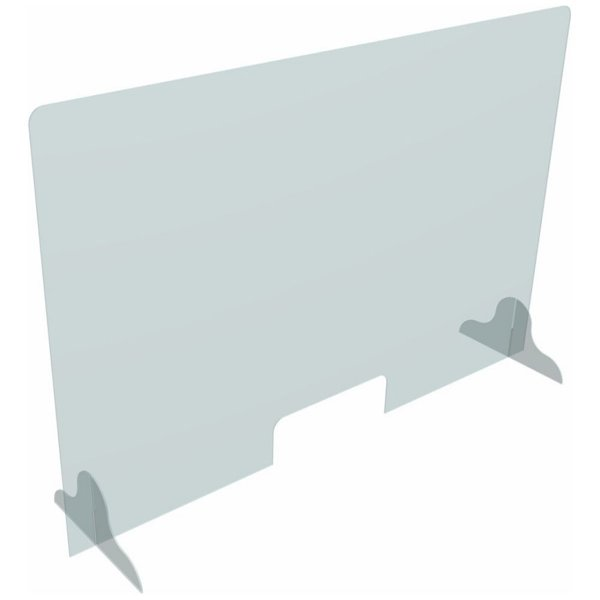 """48"""" acrylic protection panel with measurements, covid-19 business solutions, Skyline Entourage"""