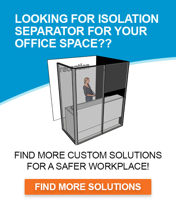 Advert for isolation separators and office solutions, covid-19 business solutions, Skyline Entourage