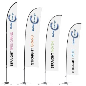 4 sizes of flags, covid-19 business solutions, Skyline Entourage