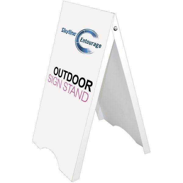 Double sided Free Standing Outdoor signage, Skyline Entourage