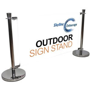 Indoor Outdoor Crowd Control signage solution, Covi-19 Safety Solutions, Skyline Entourage