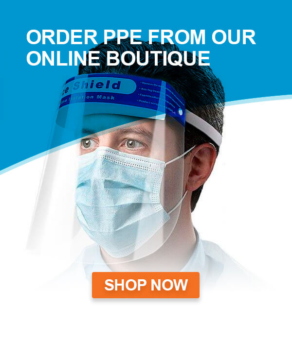 Order PPE from our online boutique - Shop Now, covid-19 business solutions, Skyline Entourage