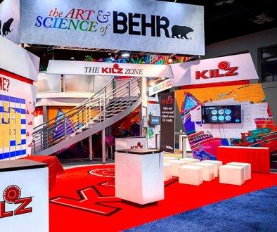 Expositions à double pont de Behr, solutions d'expositions, solutions de covid-19, Skyline Entourage