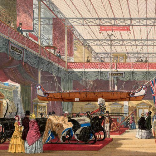 Painting of the The Great Exhibition, trade show solutions, Skyline Entourage