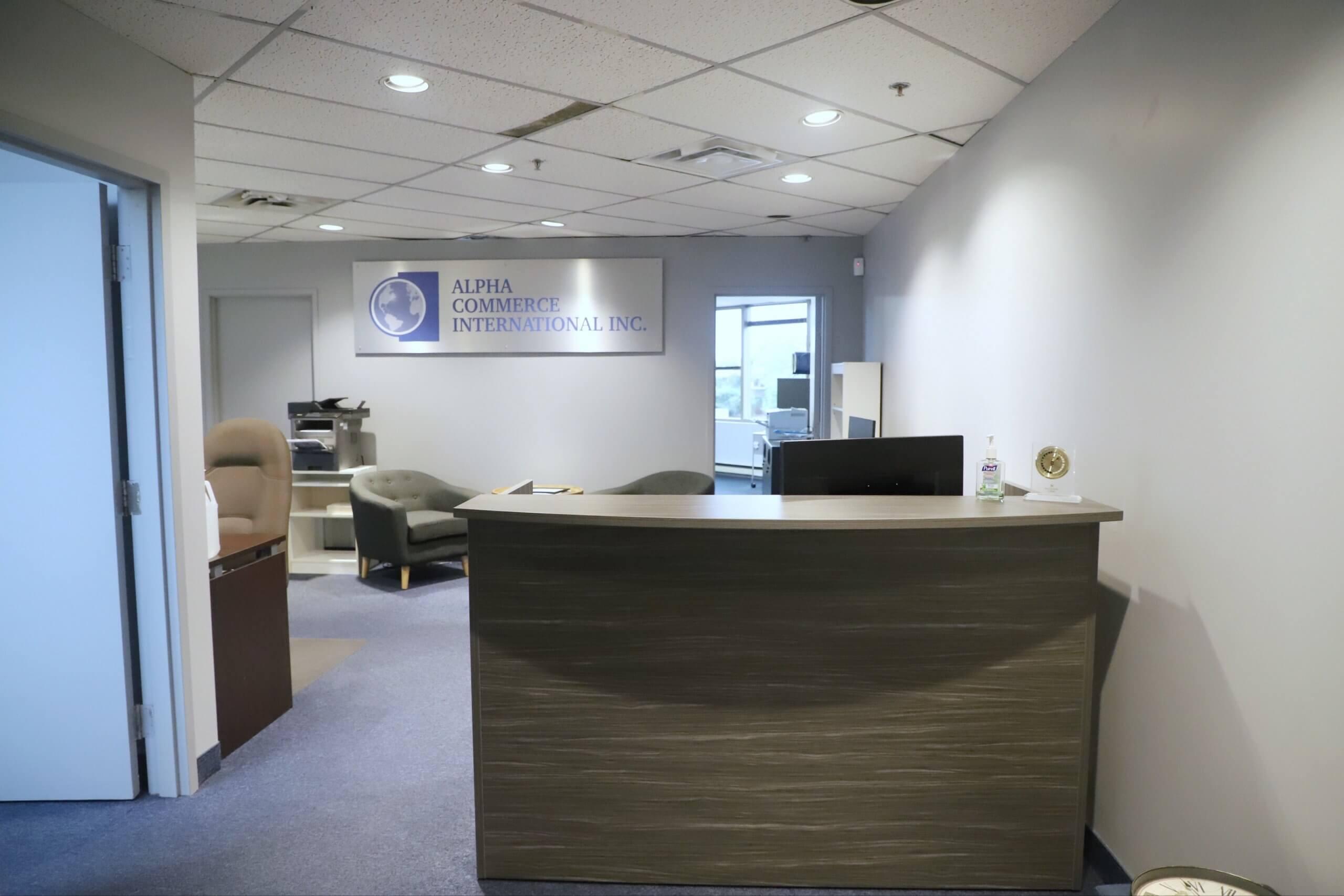 Office Interior after sign installation, trade show marketing, Skyline Entourage