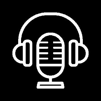 Podcast Icon White