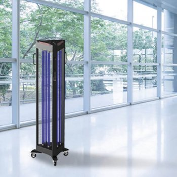 Floor standing UVC lamp, covid-19 solutions, Skyline Entourage