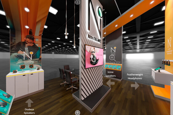 still of a virtual trade show booth concept, trade show marketing, Skyline Entourage