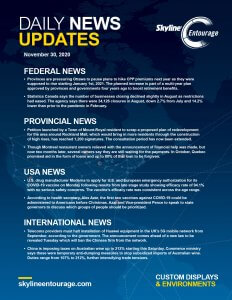 Covid-19 Daily News Updates - Download November 30, 2020 PNG