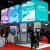 MDEIE Exhibit with hanging picture cube structures, Trade show solutions, Skyline Entourage