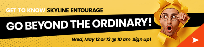 Free Webinar Banner, Go Beyond The Ordinary, Skyline Entourage