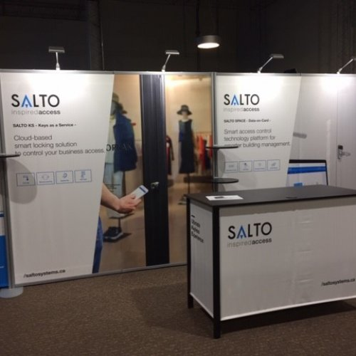 Salto, Inline Trade Show Booths, Inline Exhibits, Skyline Entourage