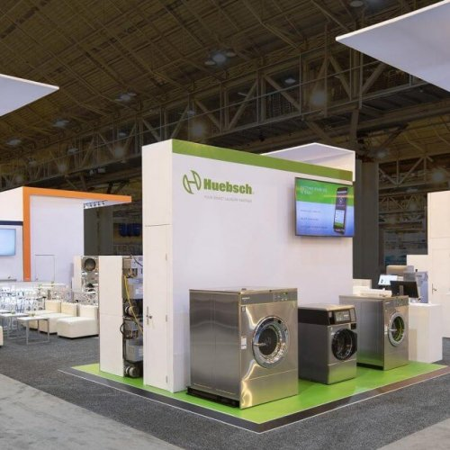 Alliance Laundry Systems, Custom Island Exhibit, Skyline Exhibits, Trade Show Booth, Exhibit Design