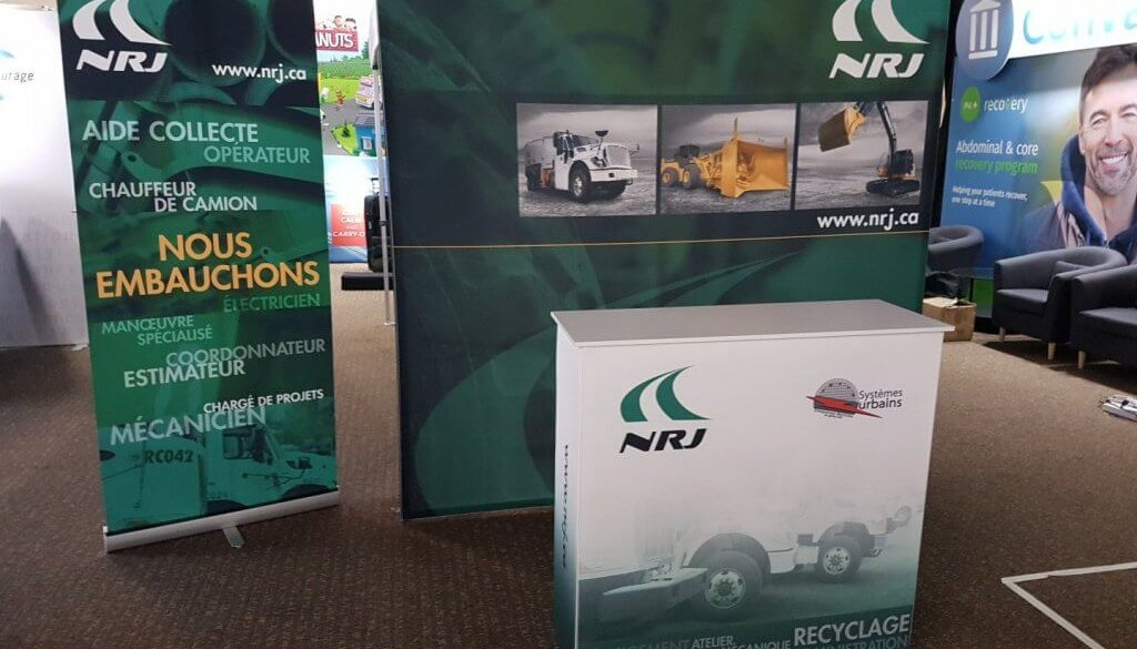 NRJ, 10x10, Portable Stand, TradeWinds Immerse, Banner stand, Skyline entourage