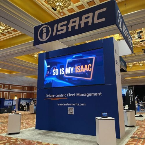 ISAAC Instruments, 20x20 Custom Island Exhibits, TCA truckload 2021, Las Vegas, Skyline Entourage
