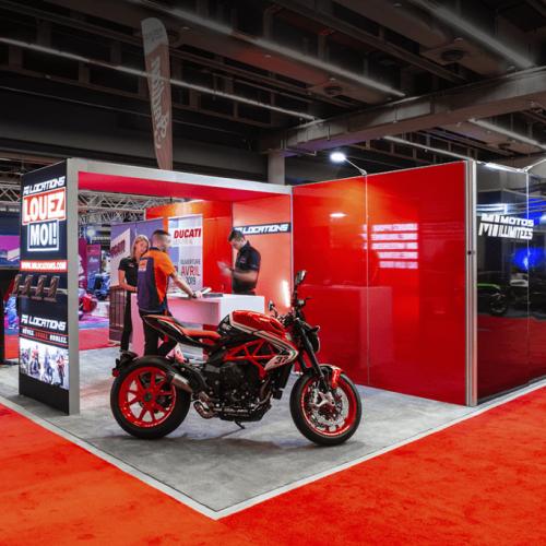 Moto Illimitee, 20x20, Island Exhibits, Quebec Motorcycle Show, 2019, Skyline Entourage