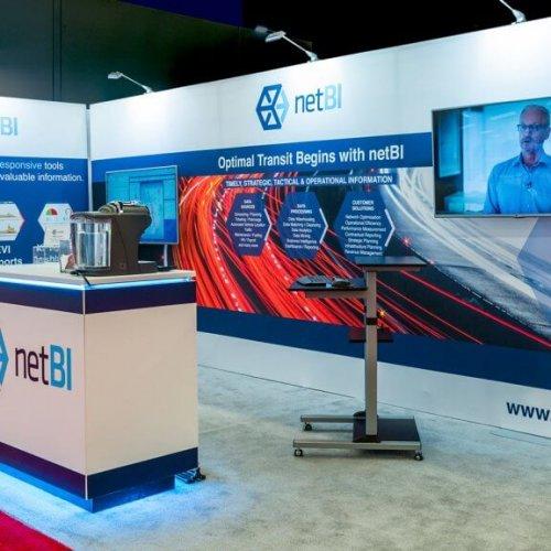 Net BI, 10x20 Inline Trade Show Booth, Inline Exhibits, Skyline Entourage, Skyline Exhibits