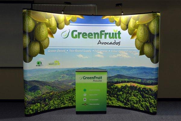 Green Fruit, 10x10 Portable Stands, Skyline Exhibits, Skyline Entourage