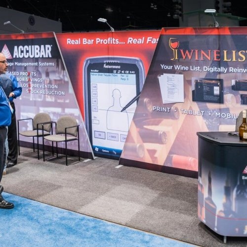 Accubar, 10x20 Portable Stands, Inline Trade Show Booths, Skyline Exhibits