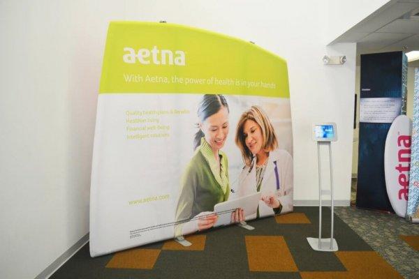 Aetna, Portable Stands, inflatable display, skyline entourage