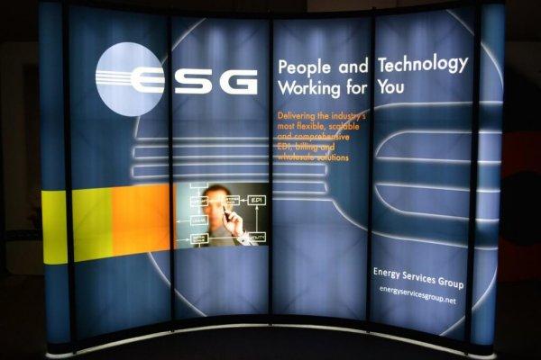 ESG, 10x10 Portable Stands, Backlit, Skyline Exhibits, Skyline Entourage