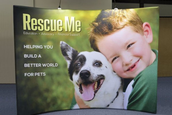 Rescue Me, 10x10, Portable Display, Curved, Skyline Exhibits
